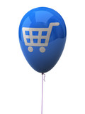 Blue balloon with shopping cart