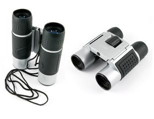 silver binoculars
