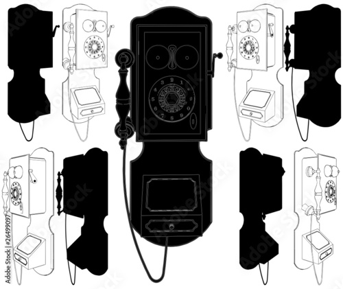 The Old Phone Vector 02