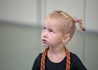 portrait of young gymnast