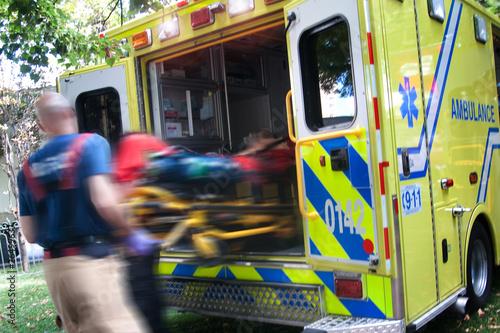 Leinwandbild Motiv Ambulance