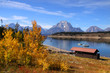 Grand tetons national park in autumn