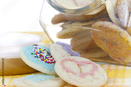 homemade organice cookies in jar