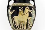 Ancient greek amphora replica poster