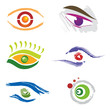 Ensemble d'Icones Oeil / Yeux pour Design Logos