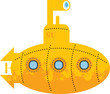 Yellow submarine, vector illustration