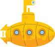Yellow submarine, vector illustration
