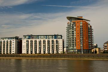 Wohnhaus Architektur London Ufer Themse Eigentumswohungen