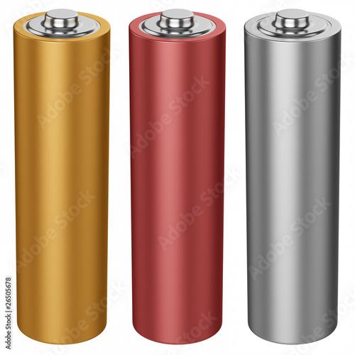 Leinwanddruck Bild AA battery