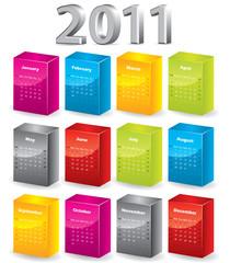 3d blocks 2011 calendar