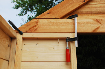 Wood Clamps on Garden Shed