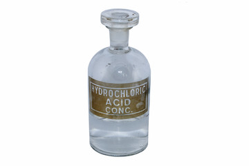 Hydrochloric acid bottle