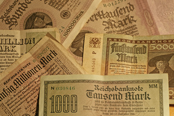 old german banknotes