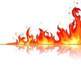 Fire flame on white background - 26512679
