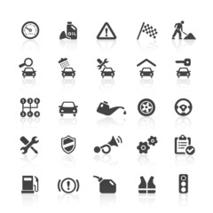 Black Web Icons - Car & Workshop