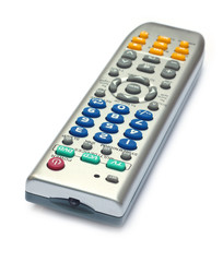 Remote control device over white background