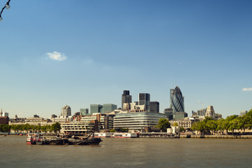City of London skyline.