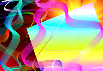 abstract gradient ribbon template