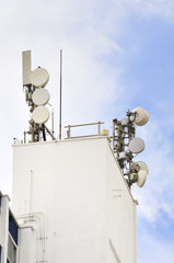 Communications Antennae on Building