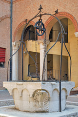 Italy Ferrara Este palace main well