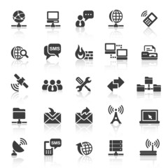 Black Web  Icons - Internet & Communication