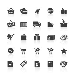 Black Web  Icons -  Shopping & E-Commerce
