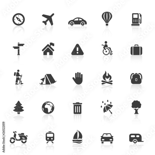 Black Web Icons - Travel
