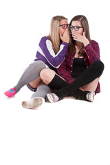 Young stylish teenagers chatting