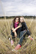 Autumn portrait of two young women