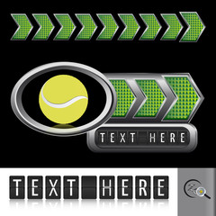 vector illustration sport elements (tennis)