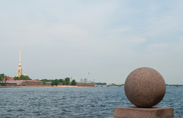 fortress on island in St. Petersburg city