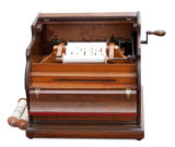 Vintage celestina (mechanical music box). Clipping path incl