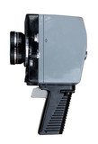 Vintage 8mm movie camera. Clipping path included.