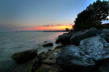 sunset over port dover
