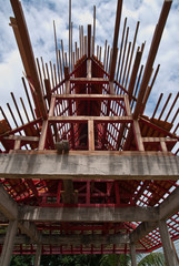 Structure of  roof  thai temple