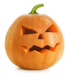 Halloween Pumpkin over white