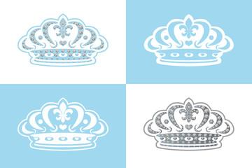 Blue Decoration Crown