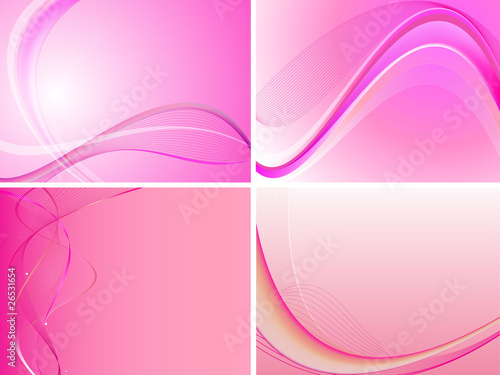 Pink Abstract Background Set