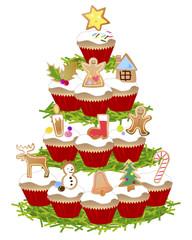 christmas capcake