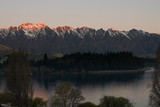 sunset on remarkables