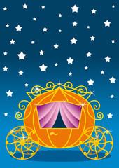 Cinderella, carrozza e cielo stellato
