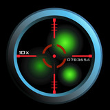 Vector rifle scope sight in nightview poster