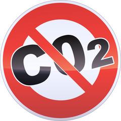Panneau d'interdiction du CO2 (métal détouré)