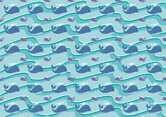 texture balenottere blu e lilla