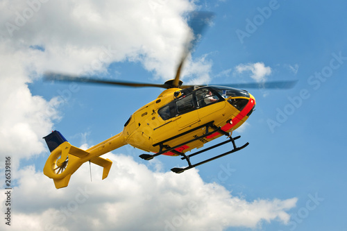 Leinwandbild Motiv EC135 Rettungshubschrauber