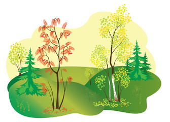vector illustration of autumn nature