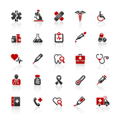 Red Black Web Icons - Medical & Health