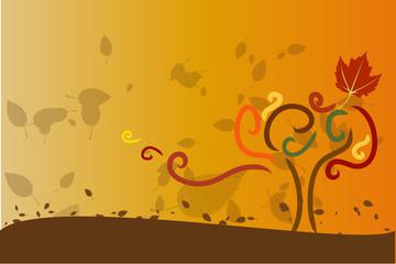 Autunno-foglie cadenti
