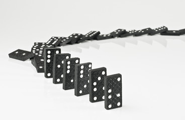 Line of falling dominos