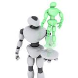 roboguy - hologram poster